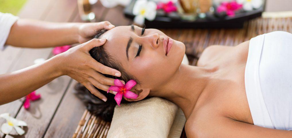 Head Massage in a Spa