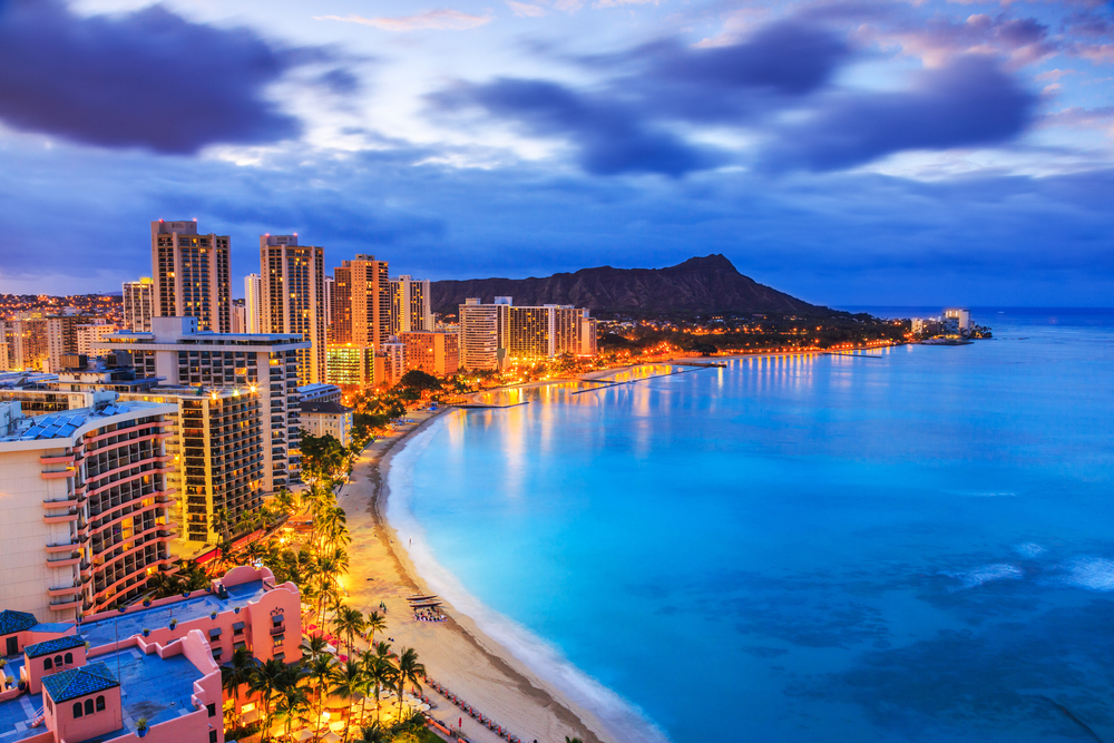 Honolulu for a romantic holiday