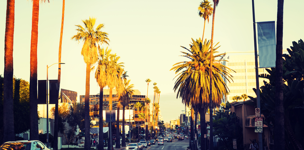 Sunset Boulevard in Los Angeles