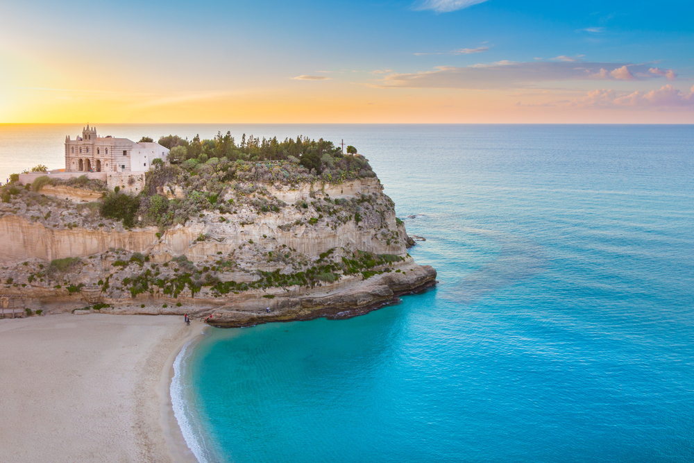 sunset in Tropea, Italy