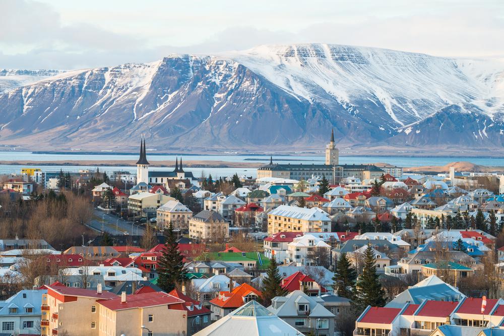 Reykjavik, Iceland quiet city in summer