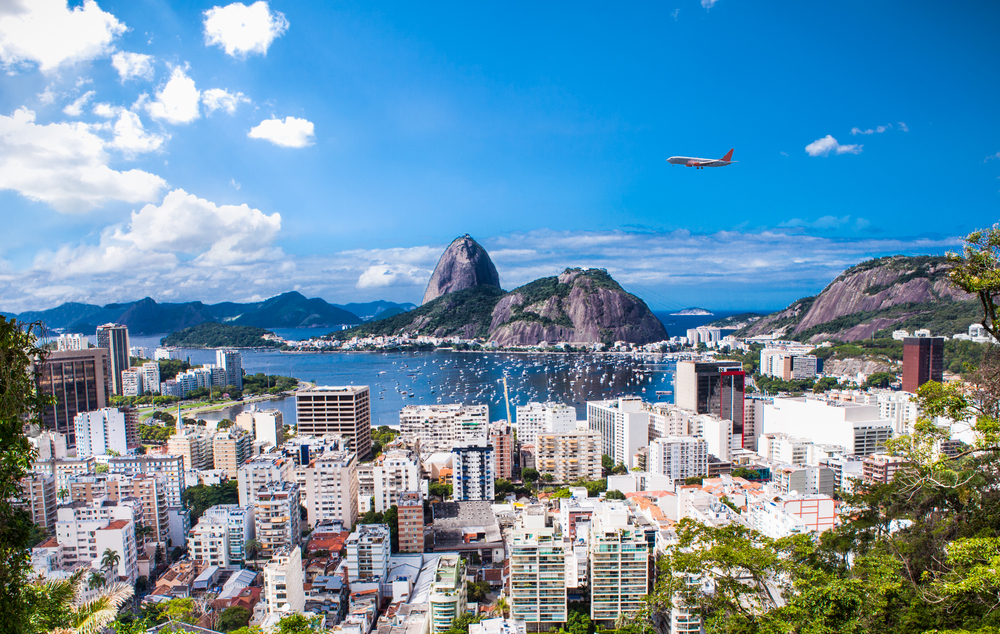 Panoramic view of Rio De Janeiro and Sugar Loaf Brazil