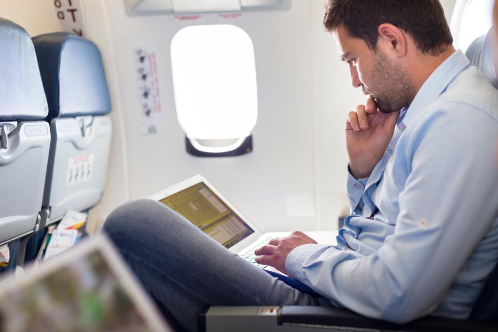 business travel flight
