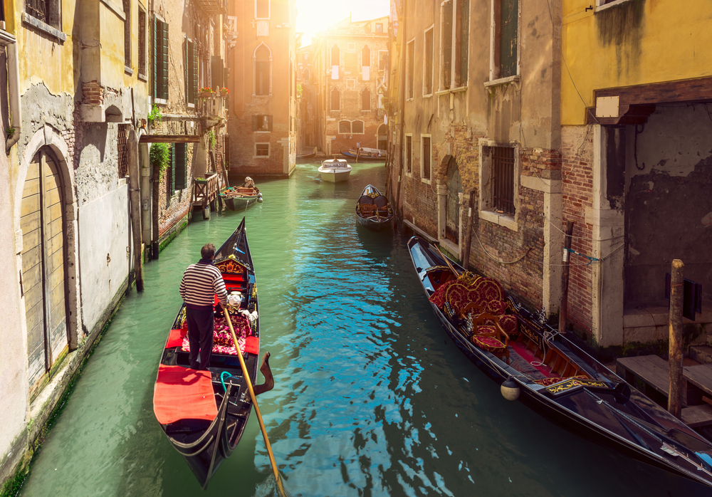 romantic gondola ride in venice