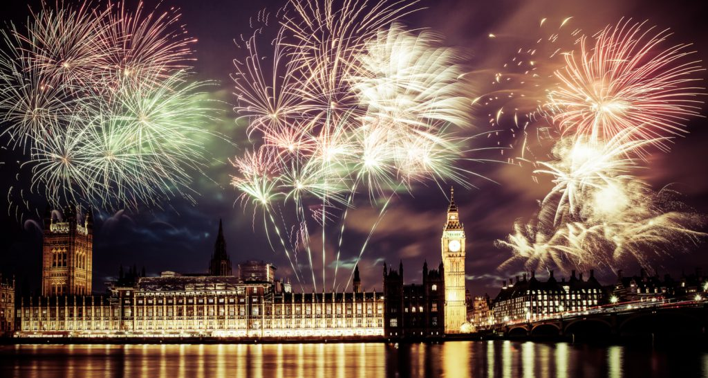 london new years fireworks