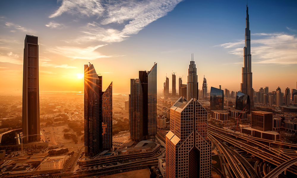 dubai sunrise