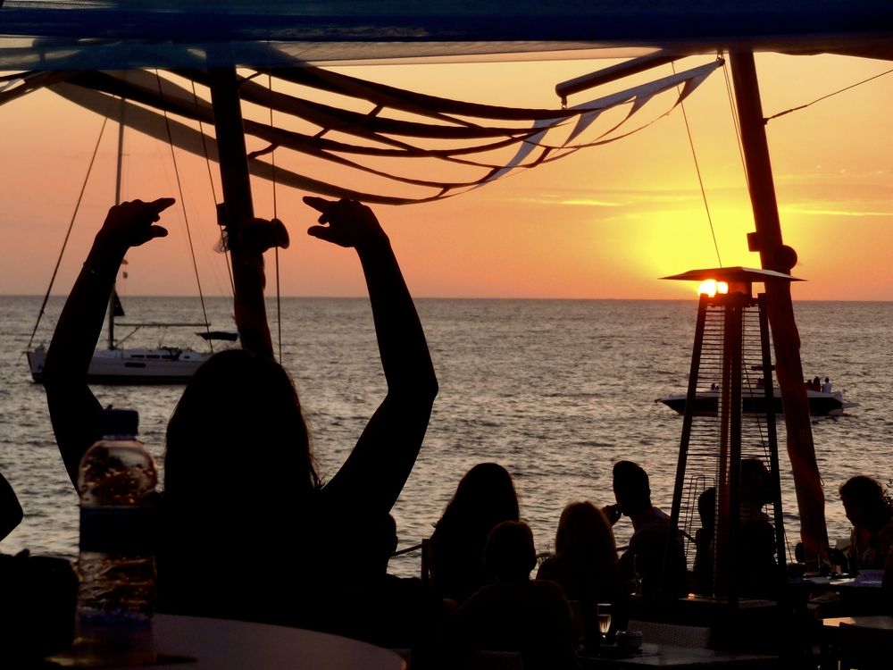 ibiza sunset party