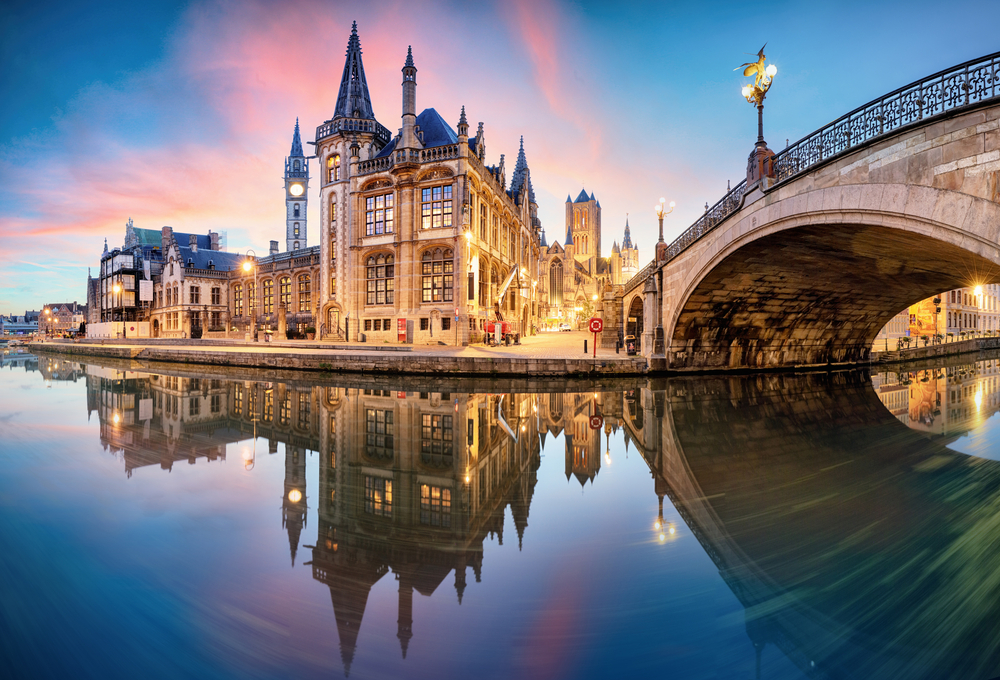 Ghent city in Belgium