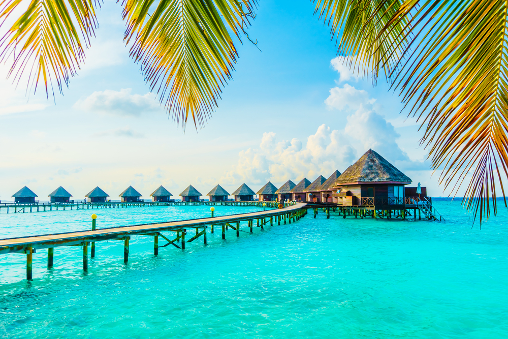 Maldives over water resort