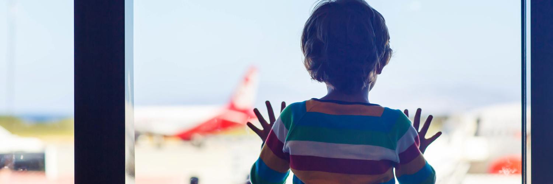 watching planes at airport