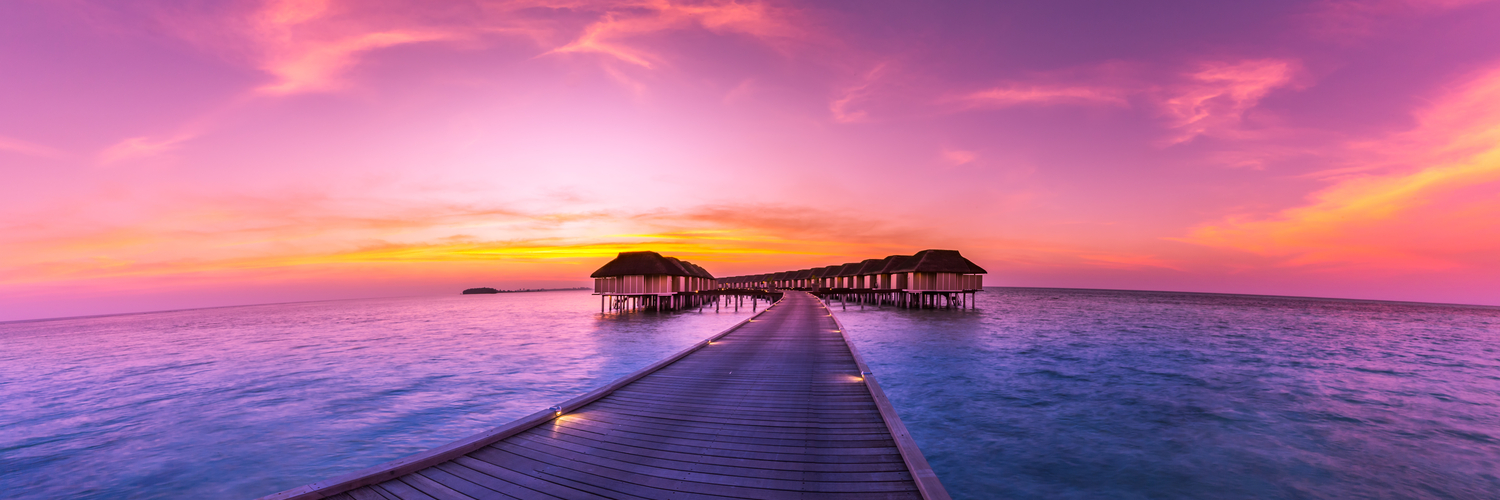 maldives at sunset
