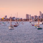 Melbourne-skyline-sunset